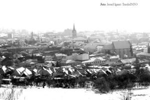 Turda, panorama, alb-negru, Ionel Ignat